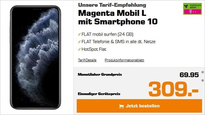 iPhone 11 Pro Max + mobilcom-debitel Magenta Mobil L (Telekom-Netz) bei Saturn