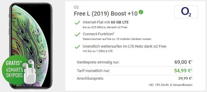 iPhone Xs + o2 Free L Boost