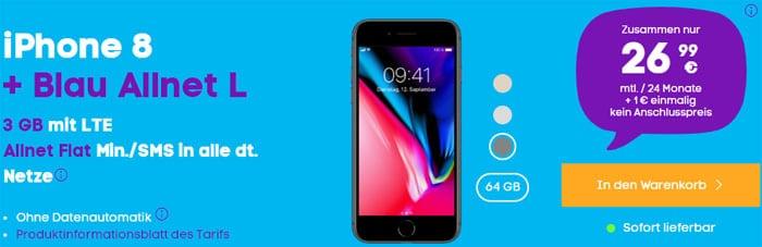 iPhone 8 + Blau Allnet L