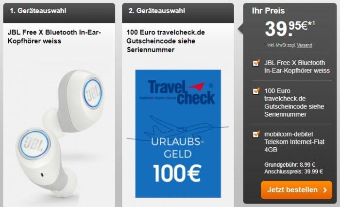 mobilcom-debitel Internet-Flat 4.000 (Telekom-Netz) + JBL X Free bei Handyflash