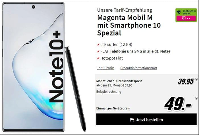 Samsung Galaxy Note 10 mit Vertrag md MagentaMobil M