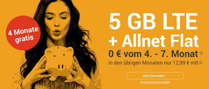 winSIM LTE ALl 5 GB LTE mit 4 Gratis-Monaten