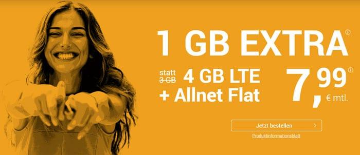 winSIM LTE All 4 GB LTE Aktion