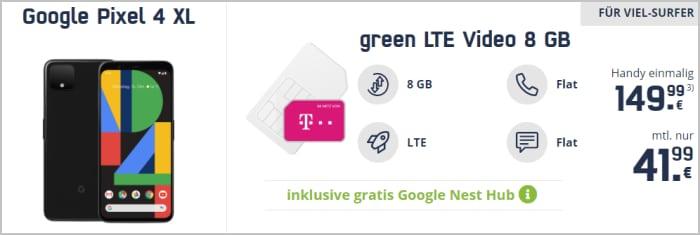 Google Pixel 4 XL mit md green LTE Telekom