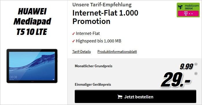Huawei MediaPad T5 10 LTE + Internet Flat 1.000 (md)