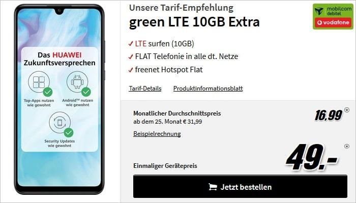 Huawei P30 lite + green LTE 10 GB Vodafone bei MediaMarkt