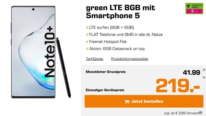 Samsung Galaxy Note 10 Plus mit mobilcom-debitel green LTE (Telekom-Netz) bei MediaMarkt