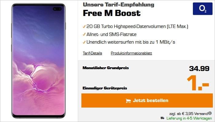 SAMSUNG Galaxy S10 Plus mit o2 free m boost saturn