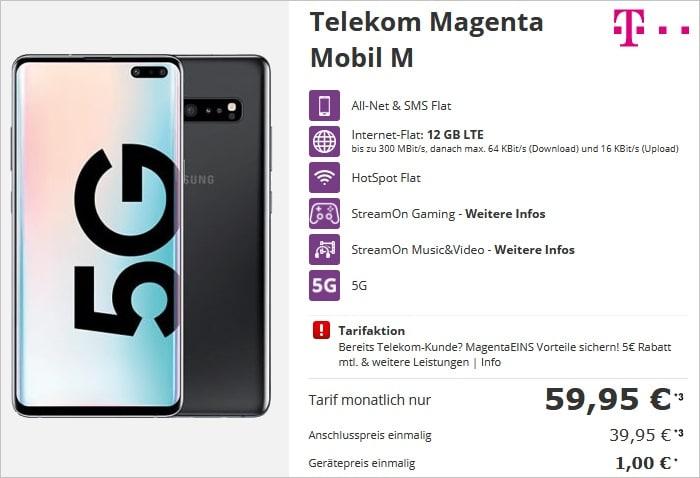 samsung galaxy s10 5G mit telekom magenta mobil m talkthisway