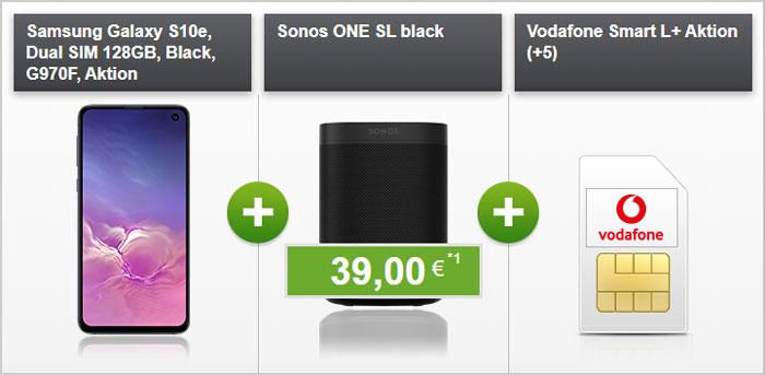 Samsung Galaxy S10e + Sonos One SL + Vodafone Smart L Plus bei modeo