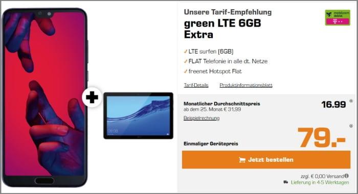 Huawei P20 Pro mit Vertrag md Green LTE im Telekom-Netz