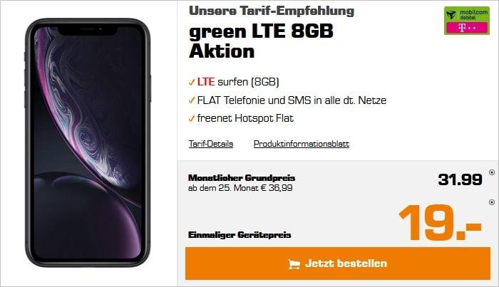 iPhone Xr + green LTE Telekom