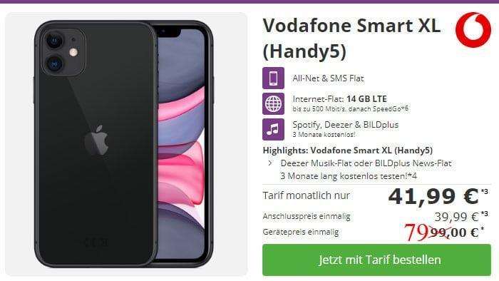 iPhone 11 mit Vertrag Vodafone Smart XL