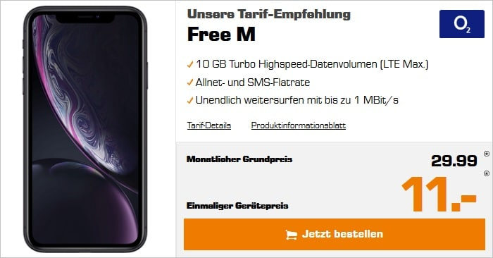 iphone xr mit o2 free m sonderdeal