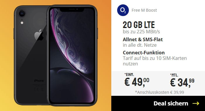 iPhone Xr + o2 Free M Boost bei Sparhandy