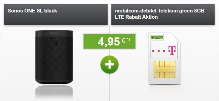 Sonos One SL + mobilcom-debitel green LTE (Telekom-Netz) bei modeo