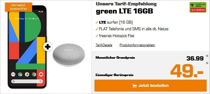 pixel 4 xl green lte vodafone-netz 16 gb lte