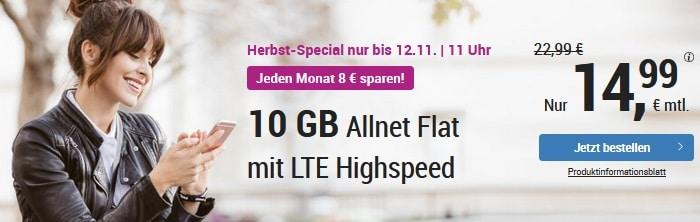 simply LTE 10000 mit 10 GB LTE Aktion