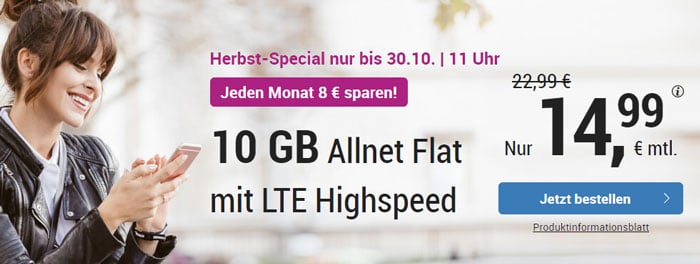 simply LTE 10000 Herbstaktion