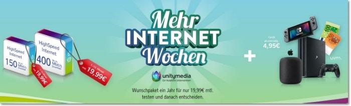 unitymedia Mehr Internet Wochen