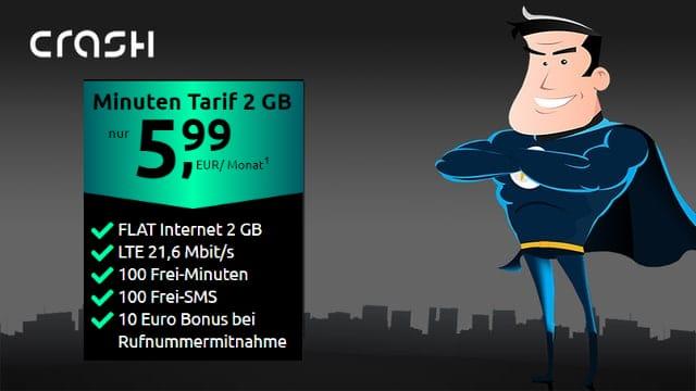 crash Minuten Tarif 2 GB