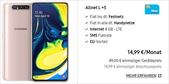 Samsung Galaxy A80 + Blau Allnet L 4 GB LTE im Samsung Online-Shop