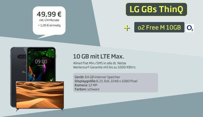 LG G8s ThinQ + 4K TV + o2 Free M