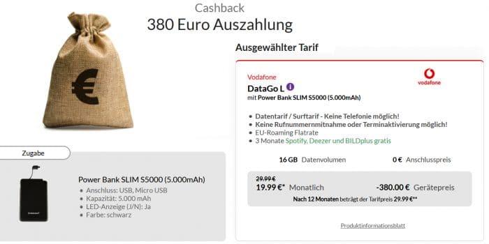 Vodafone DataGo L 380 Cashback Powerbank