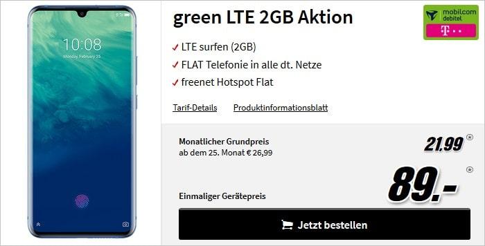 ZTE Axon 10 Pro + green LTE 2 GB Telekom bei MediaMarkt