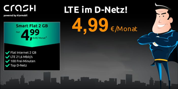 crash Smartphone Flat 2 GB LTE (Vodafone-Netz)