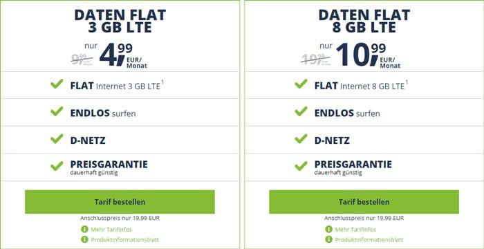 freenet Mobile Daten Flat ab 3 GB LTE (Vodafone-Netz)