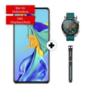Huawei P30 + Huawei Watch GT Active + Armband + artizz Displayschutz
