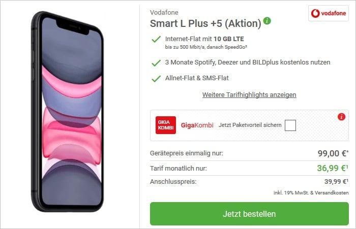 iPhone 11 + Vodafone Smart L Plus DeinHandy