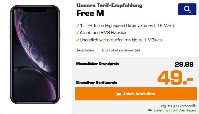 iPhone Xr + o2 Free M bei Saturn