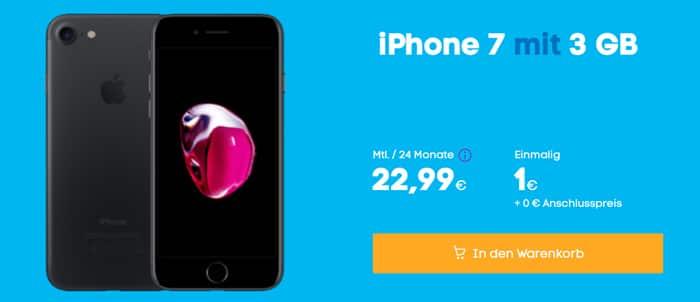 Apple iPhone 7 mit Blau Allnet L - Allnet-Flat und 3 GB LTE