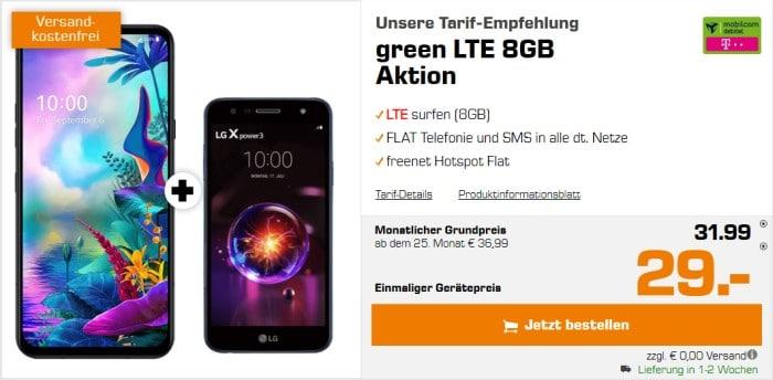 LG G8X ThinQ + LG X Power 3 + mobilcom-debitel green LTE (Telekom-Netz) bei Saturn