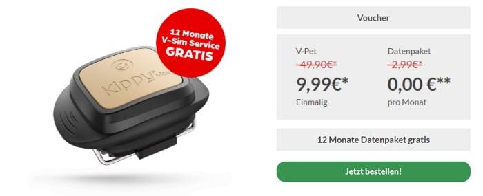 Smarter V-Pet Tracker von Vodafone für nur 9,99 € & 12 Monate gratis nutzen: Nicht nur perfekt für Tiere & Kleinkinder, sondern auch als Diebstahlschutz für Fahrrad, Auto, Rucksack & Co.