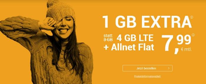 winSIM LTE All 3 GB + 1 GB LTE extra Aktion