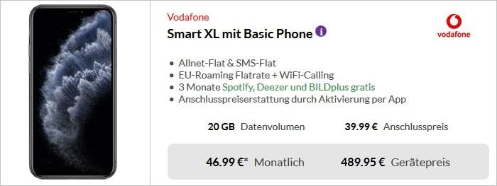 Apple iPhone 11 Pro Max + Vodafone Smart XL bei Preisboerse24
