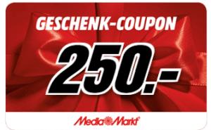 MediaMarkt-Gutschein 250 €