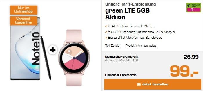 Galaxy Note10 + Galaxy Watch Active + green LTE Telekom