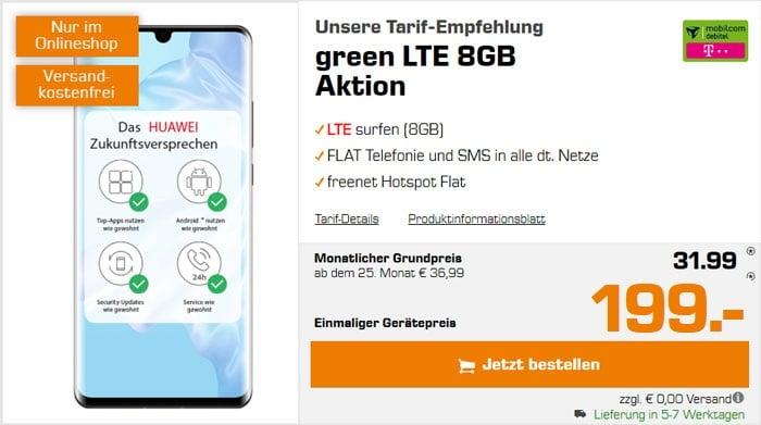 Huawei P30 Pro + mobilcom-debitel green LTE (Telekom-Netz) bei MediaMarkt 199