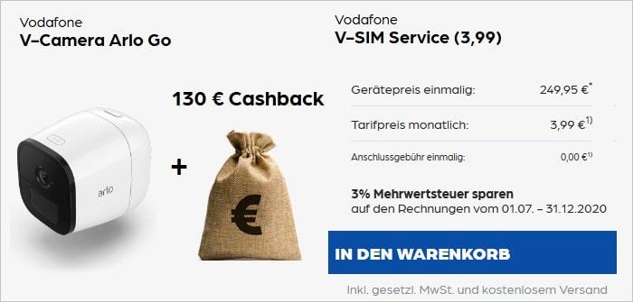 Vodafone V-Camera Arlo Go mit V-SIM Service bei Preisboerse24