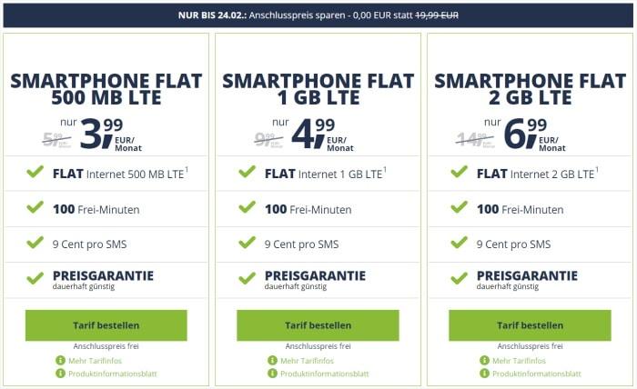 freenet Mobil Smartphone Flat ohne AG