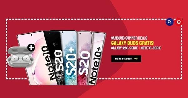 Gratis Samsung Galaxy Buds zur Galaxy-S20- & Galaxy-Note-10-Serie bei Sparhandy & DeinHandy
