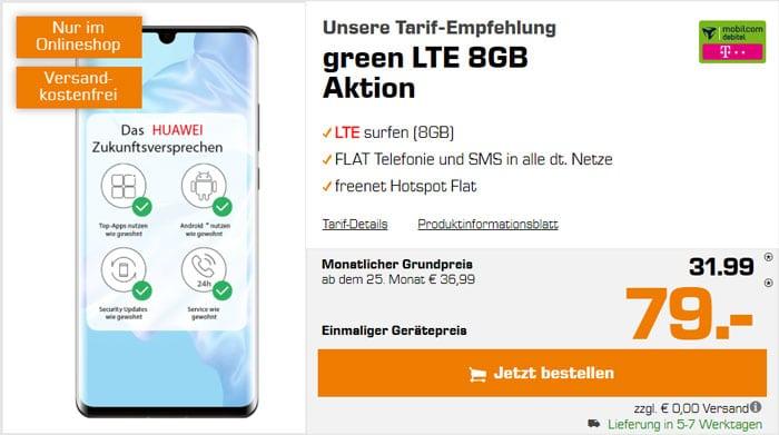 Huawei P30 Pro + mobilcom-debitel green LTE (Telekom-Netz) bei MediaMarkt