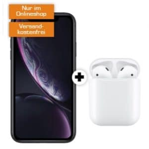 iPhone XR & AirPods mit Ladecase Logo Saturn