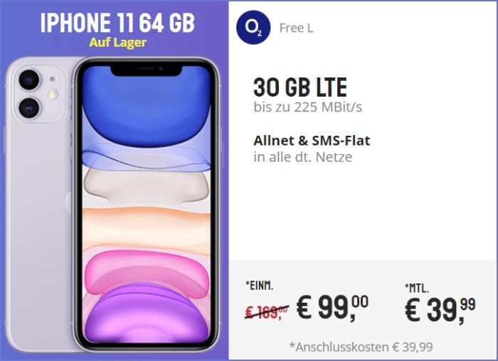 iphone 11 o2-free l bei Sparhandy