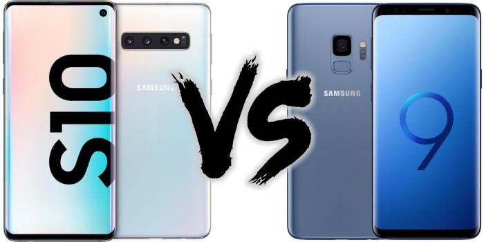 Smartphone Preisvergleich - Samsung Galaxy S10 vs. Samsung Galaxy S9