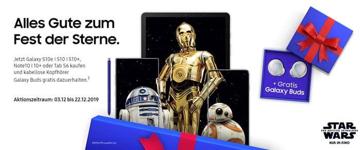 Gratis Samsung Galaxy Buds zum Fest der Sterne